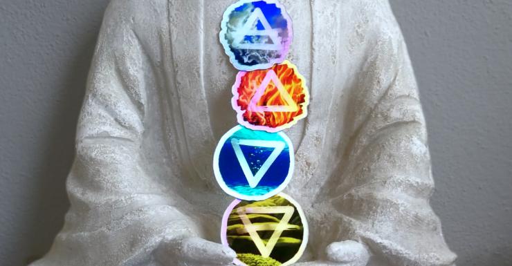 Holo-Sticker Set Vier Elemente